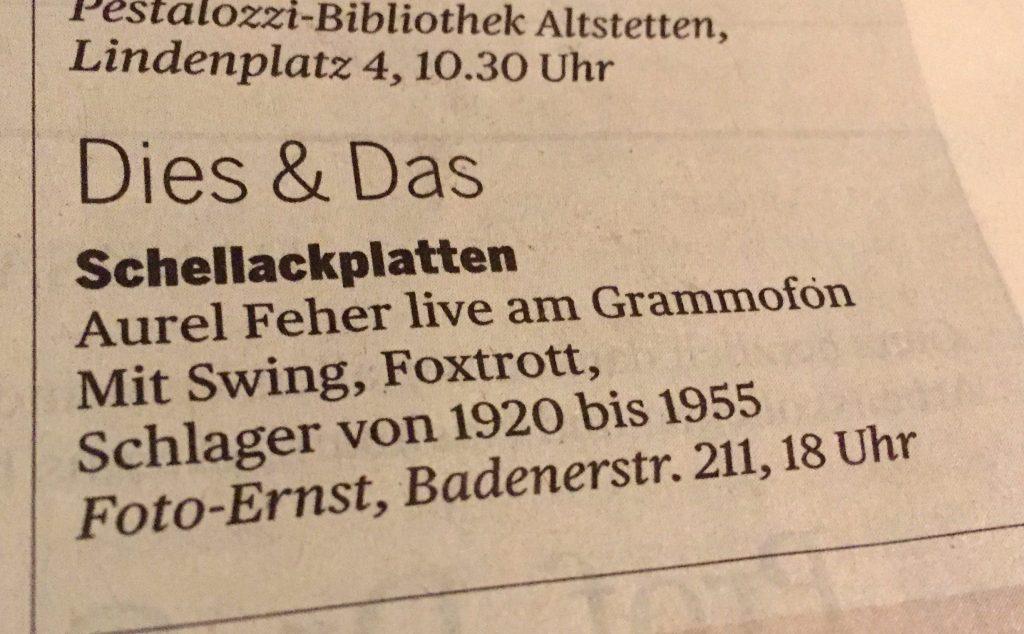 Dies & Das, TA 25.6.16