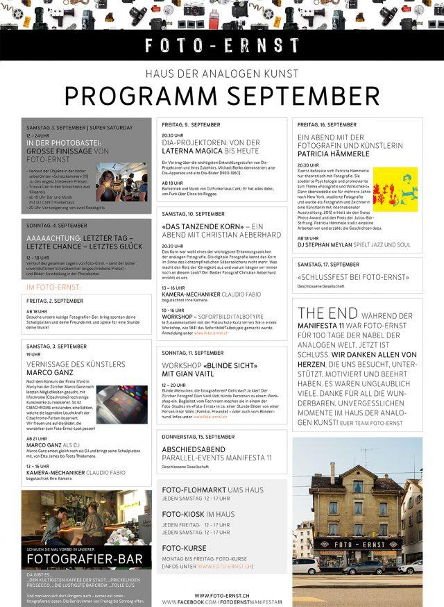 Programm September 2016 Haus der analogen Kunst